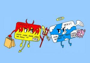 Дебетовая или кредитная карта